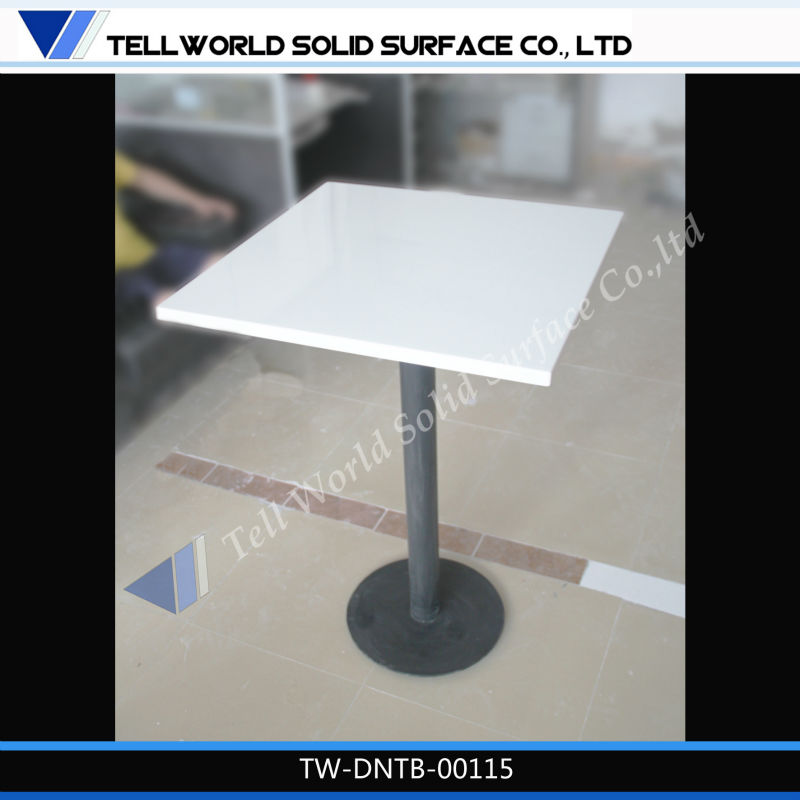 Economic white pub table top wholesale price