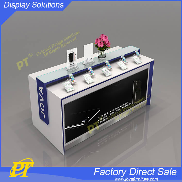 Standard Wall Cabinets Digital Secure Furniture Mobile Phone Display Counter Design