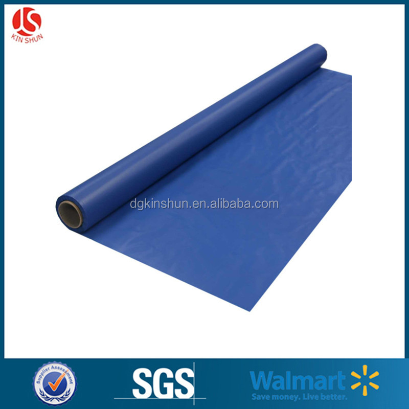 Birthday party supplies blue rolls shaped disposable vinyl plastic tablecloths