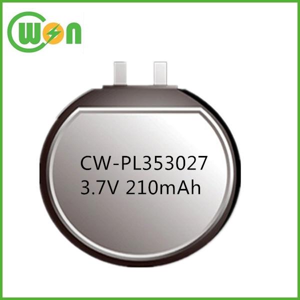 Circular Lithium Polymer Battery 3.7v 210mah Li Polymer ...