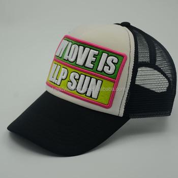 b86679cf113d9 Esponja camionero gorra de béisbol estilo 3D parche bordado casquillo del  deporte de malla