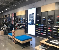 Customized Free Design Sports Display Rack Men Sports Shoes Shop Interior Design Display Wall Shelf for shop