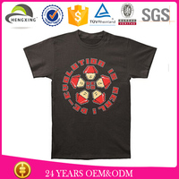 High quality black custom logo t-shirts 80% cotton 20% polyester
