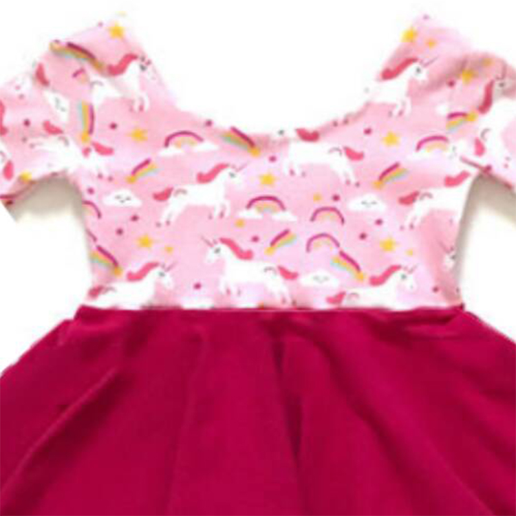 Baby girls new ruffles frocks short sleeve dress