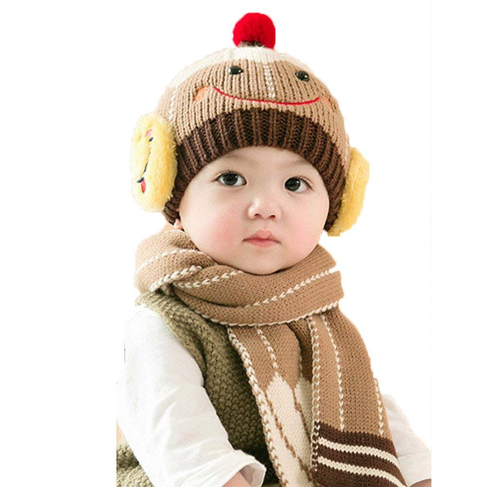 Get Quotations · Jshuang Smiley Child Hat Scarf 810de6cbab74