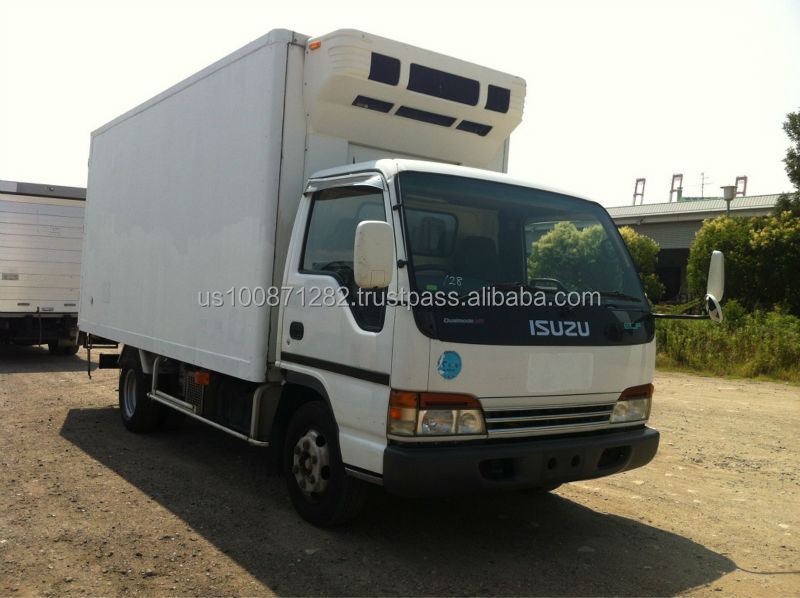 Used 2001 Isuzu Elf Refrigerator / Freezer Van 3 ton,Export from Japan