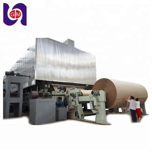 HOT guangmao recycling 1880 corrugated packaging paper making machine, raw material: waste paper, wheat straw, bagasse