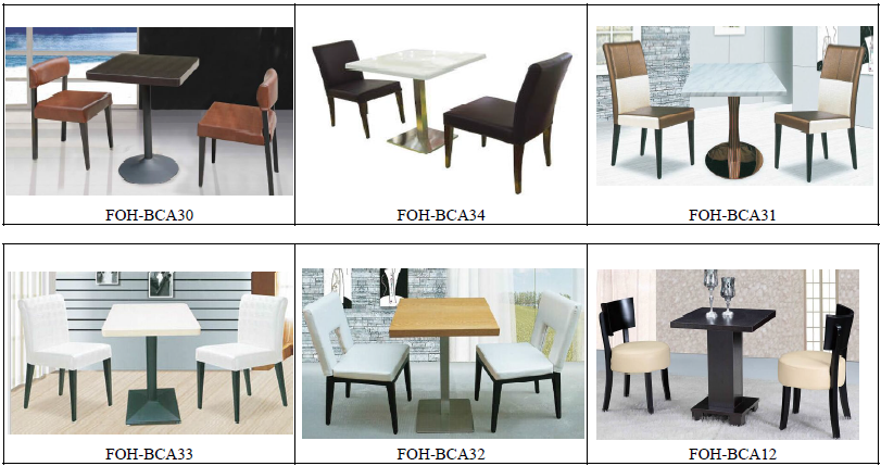 Guangzhou modern solid wood green restaurant table chair