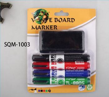 Whiteboard makers stationery set  with board eraser