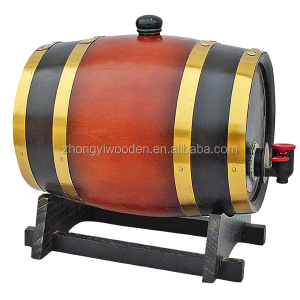 China factory FSC bar used wooden beer wine whiskey barrel for christmas decorating