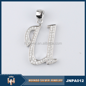 2016 fashion 925 sterling silver jewlery rhinestone pendant designs