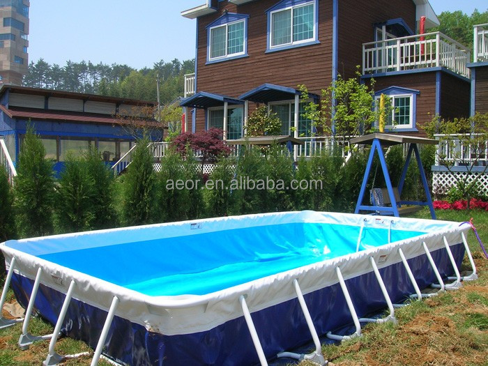 Large Pvc Material Swimming Pool Portable Swimming Pool Frame For Sale Used Frame Metal Swimming