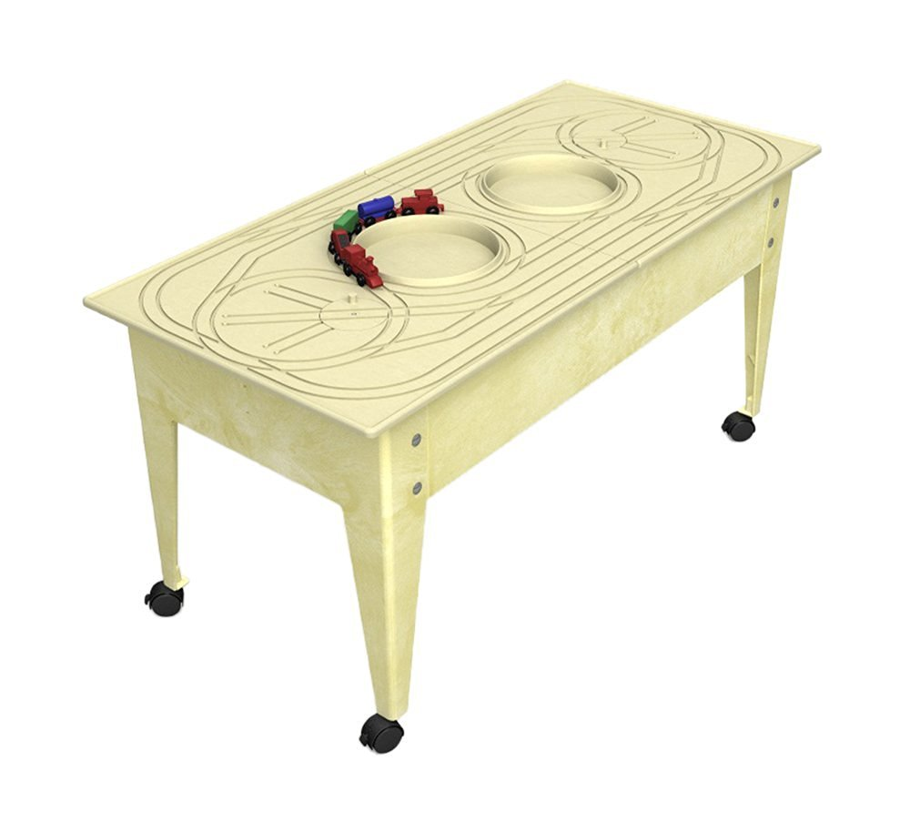 Childbrite Youth Table with Route Board & Red Ball Express Train - Sandstone