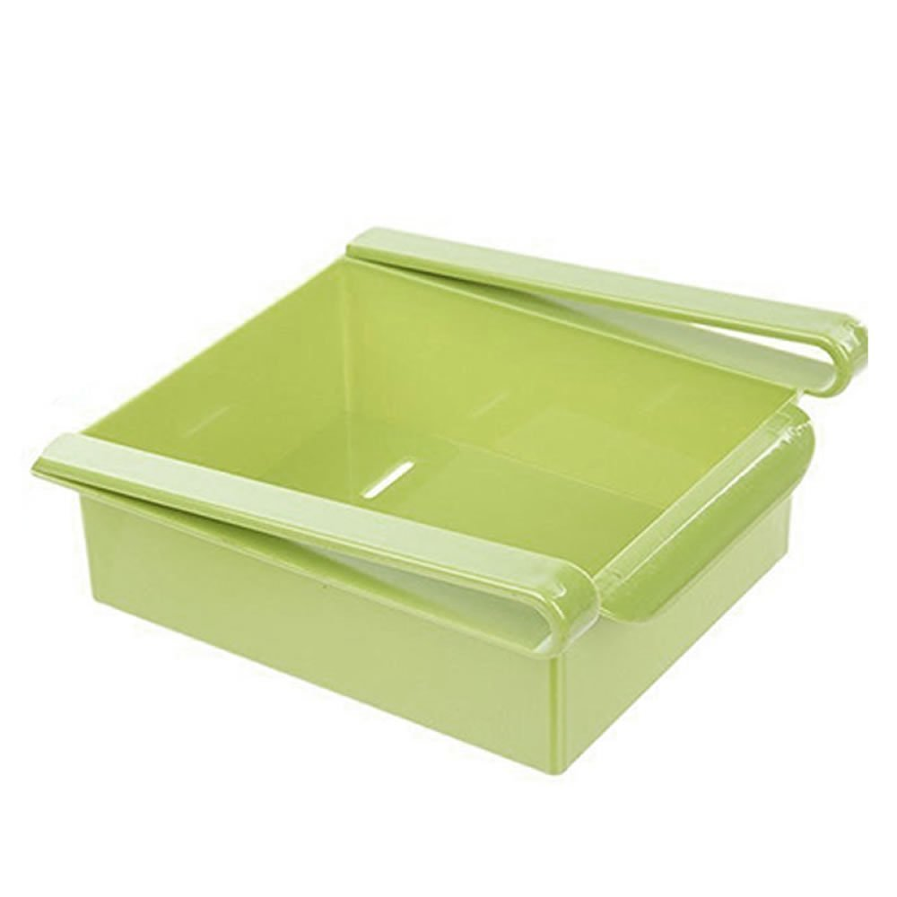 Refrigerator Organizer Storage Bins,Freezer Storage Organizer Bins Space Saver Green