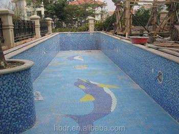 Anti Slip Tegels : Anti slip dolfijn mozaïeken glasmozaïek voor zwembad tegel met