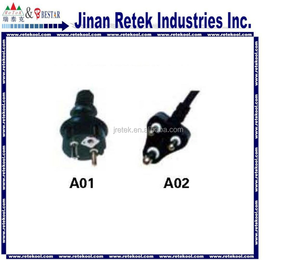 Power supply plugs for vacuum pump parts