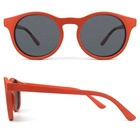 Xiamen manufacture orange red frame shade children sunglasses print your own logo