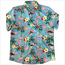Vier Side Strech 100% Polyester Sublimatie Printproces Hawaiian <span class=keywords><strong>Shirt</strong></span>