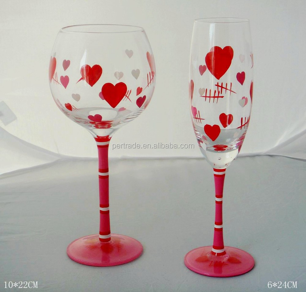 birthday touch glasses and a martini glass of decorative decor from wine