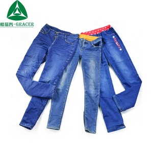 Export Used Winter Jeans Pants In Bales Second Hand Clothes