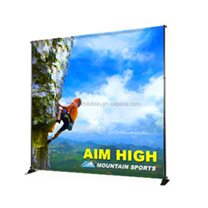 trade show advertising aluminum back drop banner stand