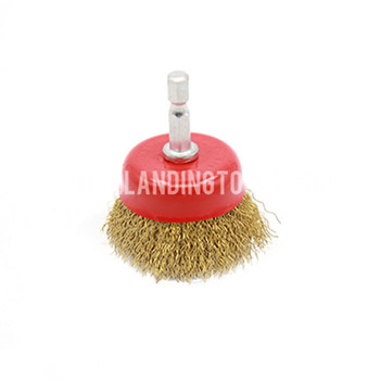 Circular Brushes Crimped Brass Wire 75mm With Hex Bolt, round wire brush, steel wire cup wheel
