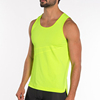 Custom name gym tank top bodybuilding stringer mens gold gym tank top singlet with fine quality