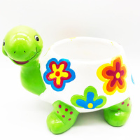 tortoise Lovely Mini indoor decorative ceramic animal shape flower pot garden planters flower box Kawaii drainage pot plant pot