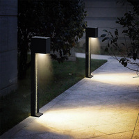 Outdoor garden light aluminium bollard portable solar