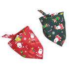 Santa Claus Pet Cat Bandanas Scarf Cotton Dog Christmas Bandana