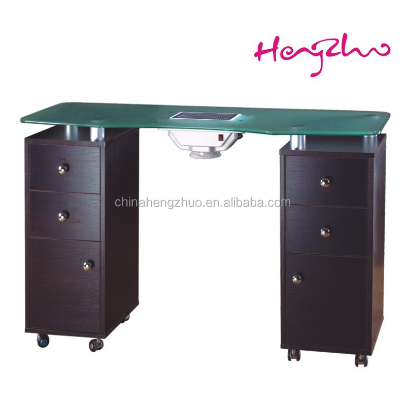 Glass Manicure Table Nail Dryer Station With Exhaust System - Buy ...