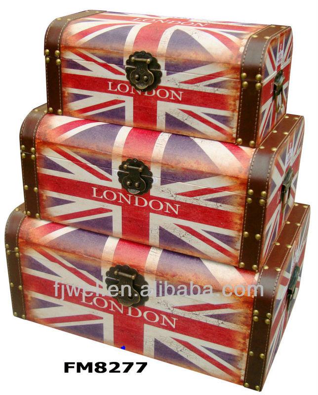 En Forme De Dome L Union Jack Decoratif Coffre De Rangement Boites