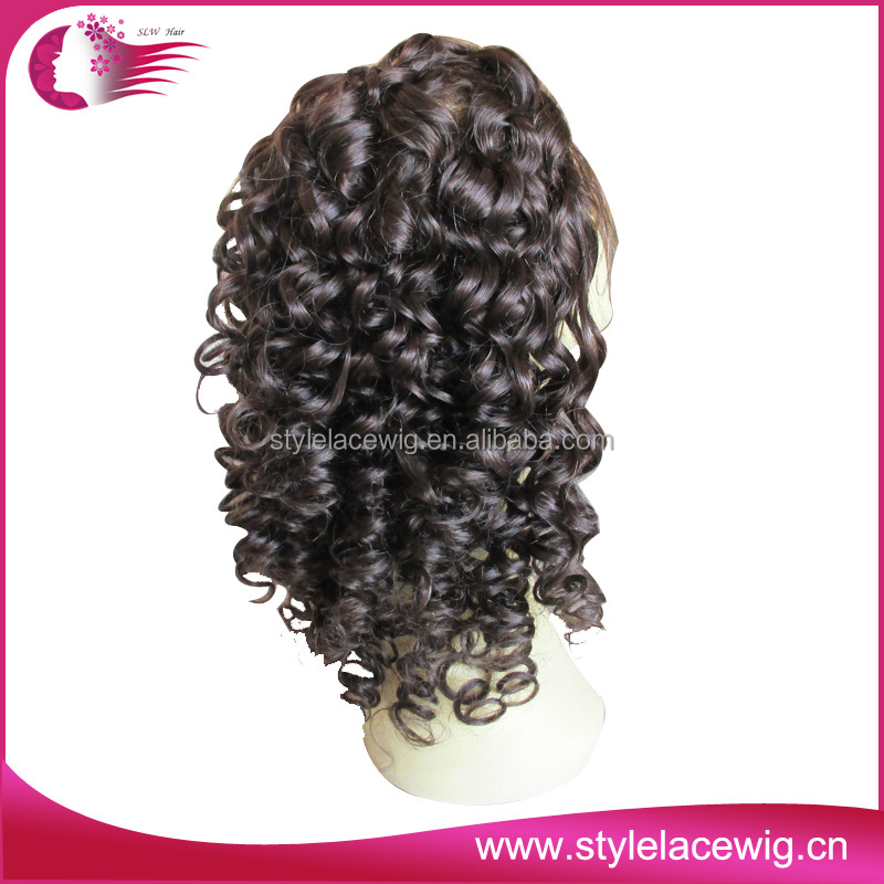 wholesale cheaper and good quality full lace wig short lace wigs black curly full lace wigs