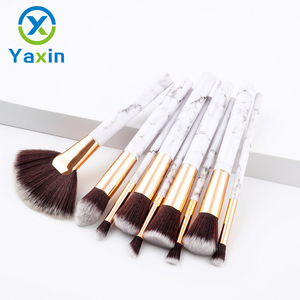 Yaxin the new design 9pcs hotsale marble makeup brushes