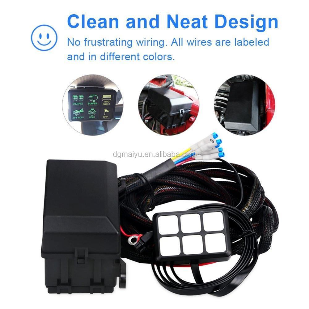 6 Gang Switch Panel Electronic Relay System Circuit Control Box Waterproof Waterproof Fuse Box Wiring For Boat on
