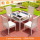 4 Person Chair Restaurant Rattan Furniture Garden Outdoor White Rattan Dining Table And Chairs