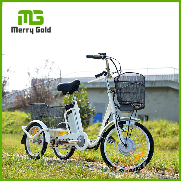 250W brushless 3 Wheel electric bicycle used as food cart from China