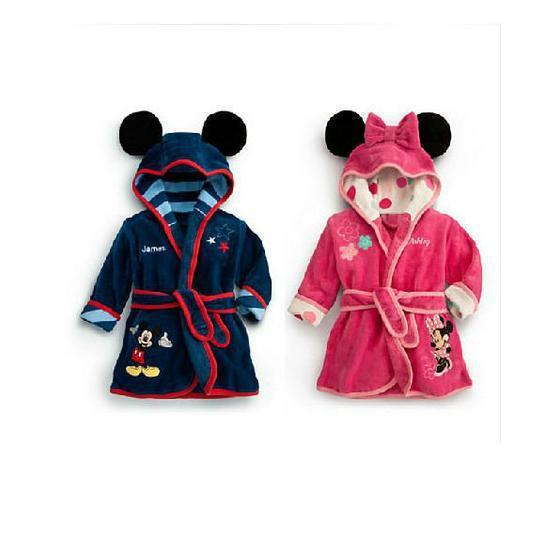 Free Shipping Mickey Minnie pattern Children coral cashmere robe bath robe kids bebe