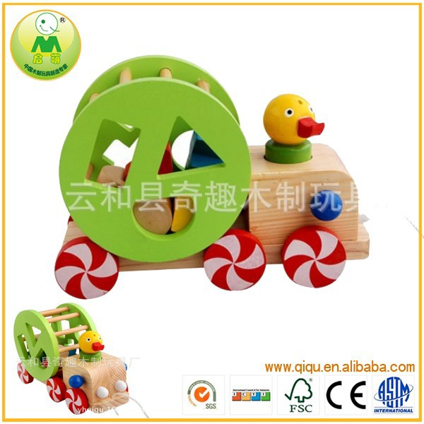 New Toys 2015 Cute Roll Pull Push Duck Baby Toy Car