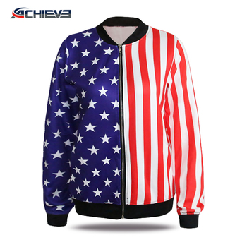 Custom Sublimated Men/Woman Winter Casual Jackets zipper jacket sport Jackets Wholesale