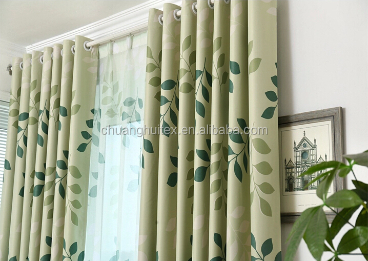 Two Side Dull Leaf Designs Printed Curtain Latest Curtain Styles For Living  Room Part 41