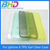 Alibaba express TPU Clear Case Cover Slim silicone Cover for iphone 6 Transparent tpu mobile phone cover case