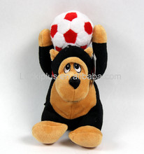 Luckiplus Cute Plush Doll Soft High Quality Soccer Monkey Toy For Boy and Girl