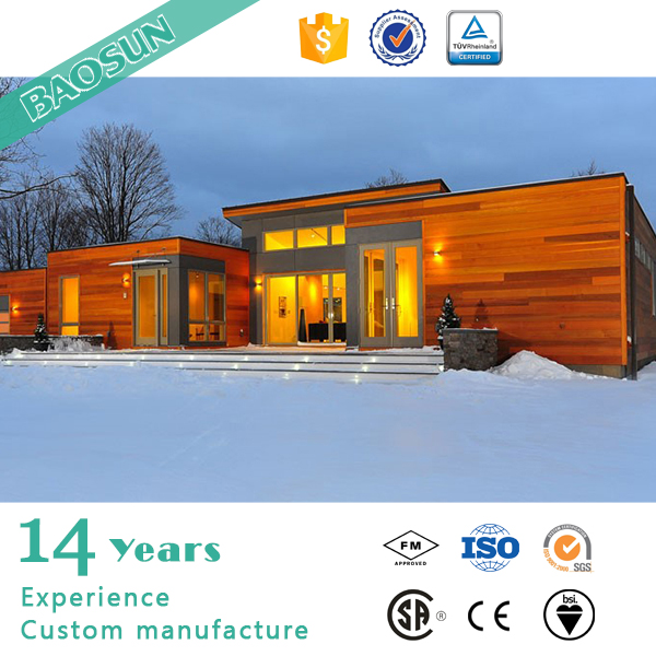 High performance prefab single slope wooden turn key house villa for North Europe and Canada