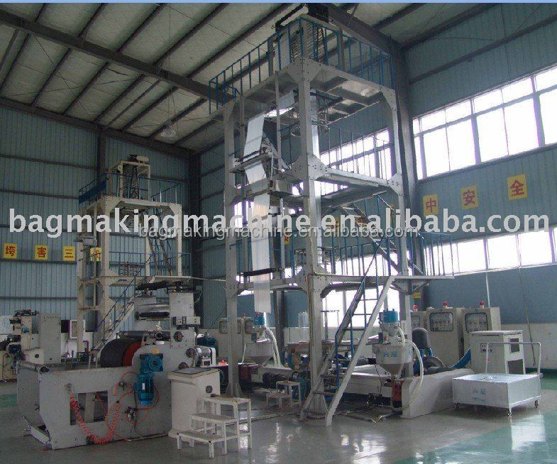 Three-layer Common-extruding PE/Resin/Polythene film BLOWN MACHINE