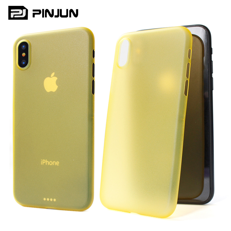 Ultra thin super frosted shield case for iphone x clear pp case,for iphone x premium case