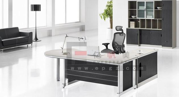 Modern Executive Office TableBoss Desks With Side TablePrincipal