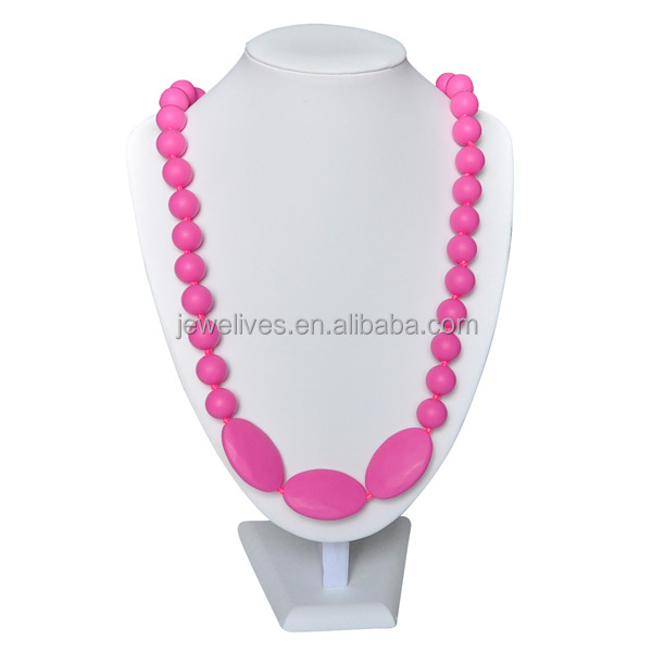 Latest design silicone teething beads for jewelry