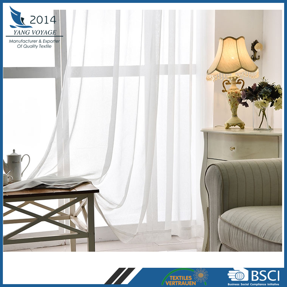 100% Polyester fabric 80gsm full dolly sheer window curtain for USA market