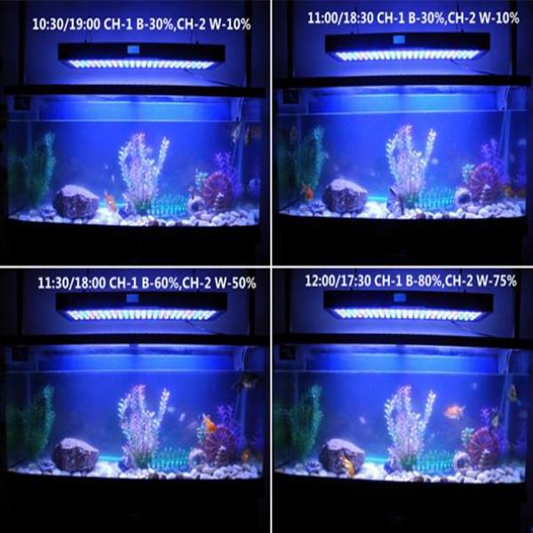 Sunset&sunrise 99x3w Marine Led Light Fixture For 36inch Aquarium ...